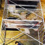 Restaurierung der Jugendstilmalerei in den Pfullinger Hallen