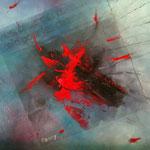 Mort aux canards ! - Huile et collage - toile sur châssis