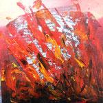 Actualité brûlante - Huile et collage sur carton toilé - VENDU