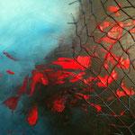 Pêche abusive (2) - Huile et collage - toile sur châssis