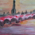 Soleil couchant - Acrylique - carton toilé - 15 x 10 - 35 €