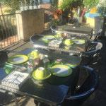 Terrasse des petits déjeuners
