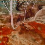 Material: Bienenwachs/Farbpigmente auf Papier     Maße: 40x30