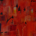 Material: Oil/varnish on canvas, measures 120x40cm