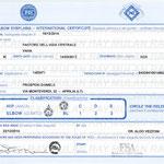 Certificato Internazionale di esenzione Displasia anca e Gomito