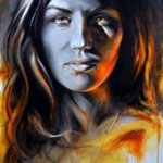 Girl with the Sun in Her Eyes…..William Rose…Oil on Canvas...6400