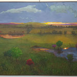"Kansas Land, David Gross, Oil on Canvas, 30.5""x 40.5"", $2000"