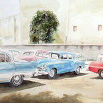 Colors Of Cuba  21 X 45  Watercolor  $1600