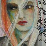 I wish I was a hummingbird 20x10 $350 acrylic on canvas
