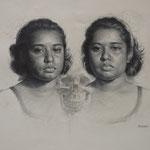 Twins   20x16  graphite   $800