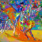 Adriano, World Champion Bull Rider on Little Yellow Jacket 28x37.5 $3675 serigraph