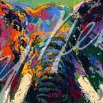Elephant Triptych 12x36.25 $4770 serigraph