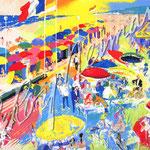 La Plage au Deauville 29x36 $5665 serigraph
