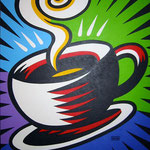 Coffee Cup original on canvas