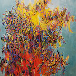 "Exuberant, David Gross, Oil on Canvas, 49""x 61"", $4200"