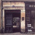 "Le Cafe, (Serigraph) 16 x 13"""