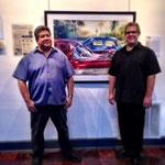 Artist Tony Armendariz and Gallery owner Bob Swearengin