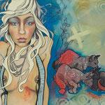 Malia  Mixed Media on Canvas