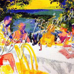 Wine Alfresco 21.75x33 $4200 serigraph