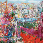 Red Square Panorama 1987 28x37.75 $8925 serigraph