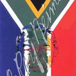 President Nelson Mandela 40x24 $3150 serigraph
