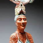 Swimmer w/ Fish on Head….Cheryl Tall…Ceramic…….3000