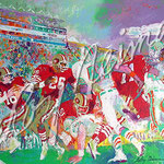 Post-Season Football Classic 1985 26 7/8x38 $6680 serigraph