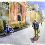 Shopping Man 33 X 21  Watercolor  $1000