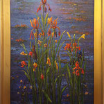 "Iris Synphony, David Gross, Oil on Canvas 29.5""x 41"", $3200"