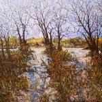 "Edge of Evening, David Gross, Oil on Canvas, 48""x 60"",  $4900"