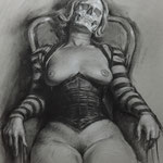 Death in Repose  11x14  charcoal    $500