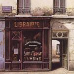 """Librairie, (Serigraph) 13 x 16"""""""