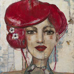 "Cherry Blossom by Teresa Magel, 20x 20x 3"", $725"