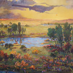 "Sundown, David Gross, Oil on Canvas, 40""x 50"", $4500"