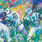 Handoff - Super Bowl III 27.75x37.25 $4400 serigraph