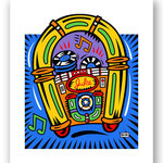 Jumpin Jukebox lmtd ed. serigraph on paper