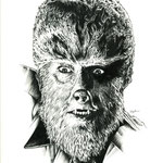 "Wolfman - Pen and Ink - 18"" x 24"" Original Art $650.00"