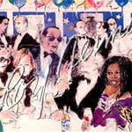 Celebrity Night at Spago 24.75x37.25 $4725 serigraph