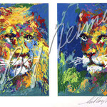 Lion and Lioness 11x18.5 $3360 serigraph