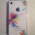 iPhoneケース 市販の透明プラスチックケース、カッティングシート 2013年
