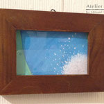 「手を振るよ」ギャラリィトウキョウジョウ「その後の風景」出展 画用紙に水彩 2012年12月【個人蔵】
