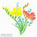 アサコ ミニアルバム「草とエンジン」CDジャケット用イラストレーション 2013年12月 画用紙に色鉛筆