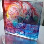 「モニュメント #7」 ギャラリー檜「interactive-YOUTH-」出展 アクリル板に水性塗料 W100×H100×D100mm  2014年2月【個人蔵】
