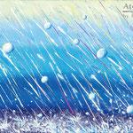 OG&Ame sol town band 「Ame」CDジャケット用イラストレーション キャンバスにアクリルガッシュ、410×242mm(M6) 2013年4月