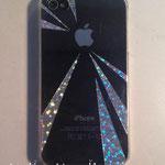 iPhoneケース 市販の透明プラスチックケース、カッティングシート 2012年