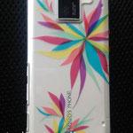AquosPhoneケース(依頼制作) 市販の透明プラスチックケース、カッティングシート 2012年【個人蔵】