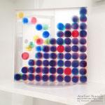 「peer」 ギャラリー檜「GALLERY HINOKI ART FAIR ⅩⅥ」出展 アクリル板に水性塗料 W200×H203×150mm 2014年8月