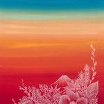 「年の始めの」飛尽・ナカムラヒトミ2人展「はじまりの風景」出展  画用紙にアクリルガッシュ、色鉛筆 297×210mm(A4) 2015年12月