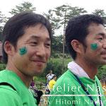 フェイスペイント「かえるくん」 2014年8月@福島県川内村「かわうち復興際」