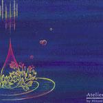 「一音」ギャラリーイントラート「雨のとき」展他出展 木パネルにアクリルガッシュ 148mm×210mm(A5) 2011年6月